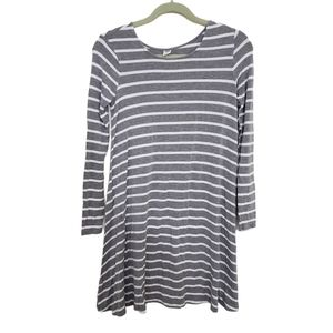 Old Navy Striped Gray and White Tunic Dress Sz XS